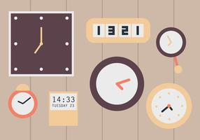 Relógios de parede vetor