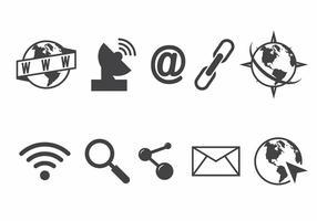 Conjunto de ícones do Internet Explorer vetor