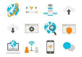 Vetor de ícones de internet grátis