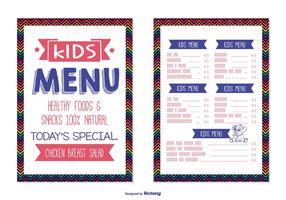 Modelo de menu de crianças