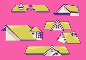 Vetorial da vista dos telhados vetor
