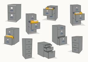 Vetor de gabinete de arquivos grátis
