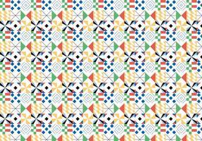 Padrão geométrico colorido vetor
