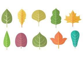 Vetor livre de folhas e ícones
