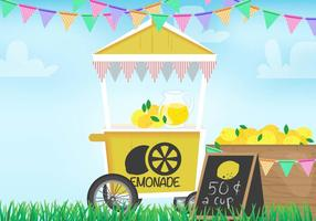 Vector do carrinho de limonada