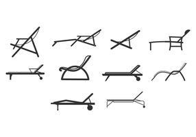Ícones grátis para cadeiras de praia vetor