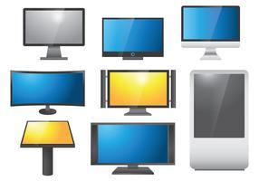 Vetor de ícones de tela led livre