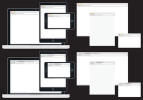 Navegadores Web adaptáveis vetor
