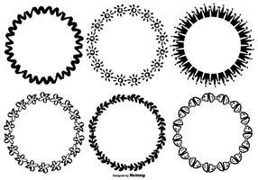 Molduras de estilo desenhadas à mão vetor