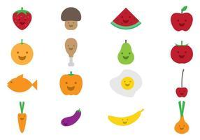 Ícone de alimentos para crianças vetor