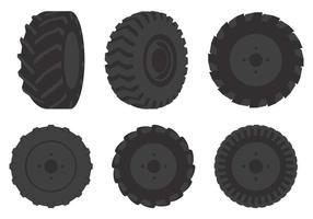 Ilustração do pneu Tractor vetor