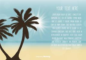 Modelo de texto de cena de praia vetor