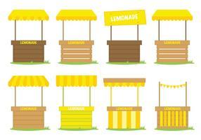 Vector de carrinho de limonada amarela