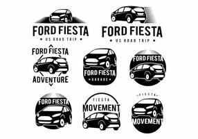 Conjunto Ford Ford Fiesta Badge vetor