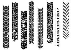 Marcas de pneu do trator vetor