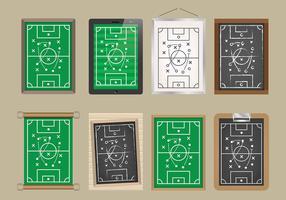 Ícones do vetor Playbook