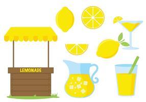 Ícone do vetor do carrinho de limonada