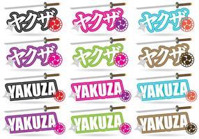 Títulos de Yakuza vetor