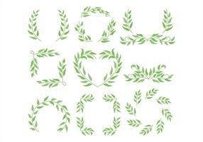 Moldura de eucalipto vetor