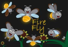 Cute Firefly dos desenhos animados