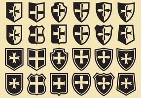 Escudos Templários vetor