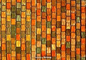 Tijolos verticais de laranja vermelho e marrom - textura de vetores