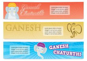 Banners de Ganesh vetor