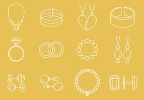 Ícones de jóias vetor