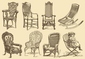 Cadeiras de estilo antigo