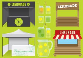 Suportes de limonada vetor