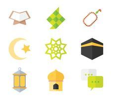 Ketupat Ramadan Ícone vetor