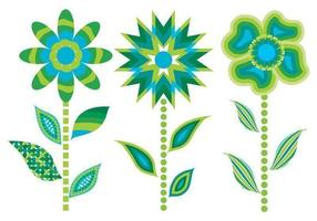 3 vetores vetores abstratos verdes