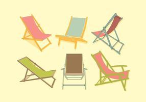 Vetor colorido da cadeira de convés