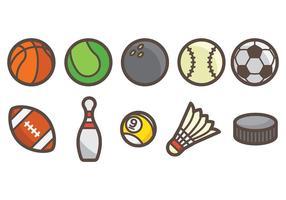 Vetor de ícones de esportes grátis