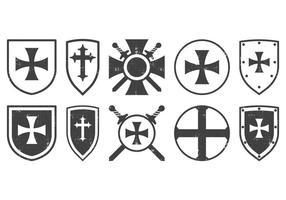 Emblema templário clássico vetor
