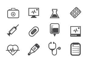 Ícones médicos gratuitos vetor
