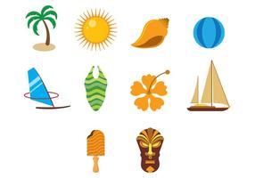Ícones do vetor do Havaí