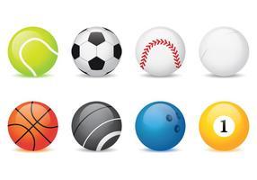 Coleção de bolas esportivas vetor