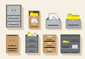 Gabinete de arquivos vetoriais vetor