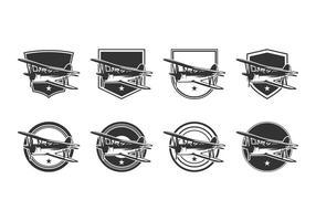 Vector de modelo de logotipo de biplano gratuito