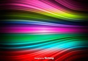 Onda colorida do vetor - onda abstrata do arco-íris