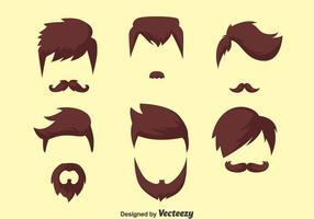Coleção Man Hair Style vetor