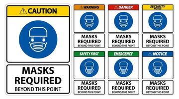 sinais de alerta de que são necessárias máscaras faciais vetor