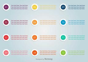 Pontos de bala com conjunto de vetores de números