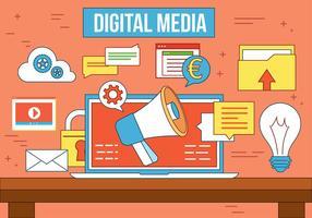 Mídia digital de vetor livre