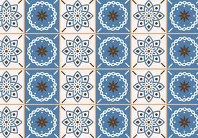 Azulejos bege e azul vetor