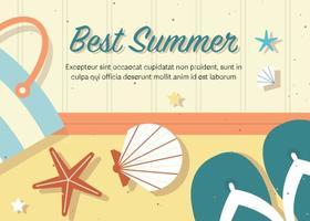 Ilustração gratuita de verão de vetor melhor