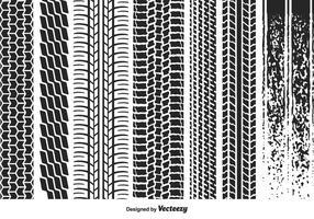 Marcas de pneus vetoriais vetor