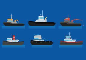 Vetor de barco rebocador