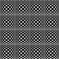 sem costura padrão branco preto vetor